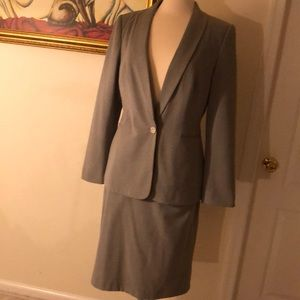 Light gray Calvin Klein skirt suit